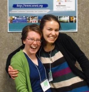 Emma and Elara at OCWiC 2009