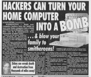 Hackers can turn your home computer into a bomb!