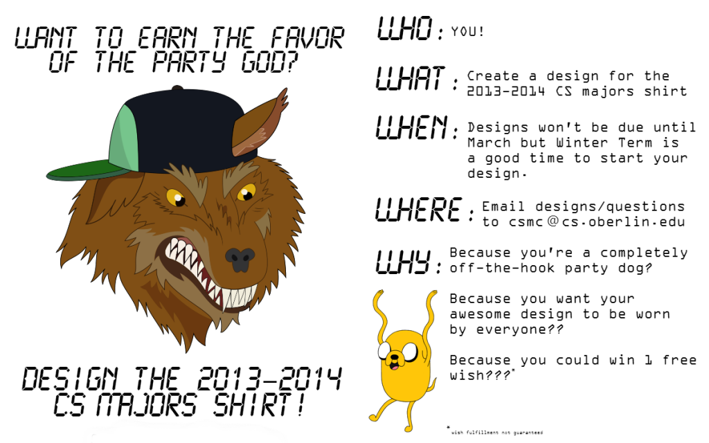 2013-2014 CS T-shirt Contest